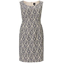 Buy Adrianna Papell Plus Size Metallic Lace Cocktail Dress, Gunmetal Online at johnlewis.com