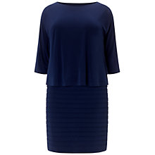 Buy Adrianna Papell Plus Size Banded Two-For Dress, Dusk Online at johnlewis.com