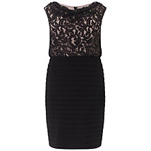 Buy Adrianna Papell Plus Size Cowl Neck Banded Dress, Black Online at johnlewis.com