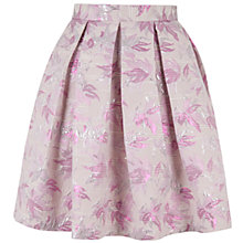 Buy Closet Jacquard Box Pleat Skirt, Pink Online at johnlewis.com