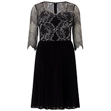 Buy Adrianna Papell Plus Size Lace Dress, Platinum/Black Online at johnlewis.com