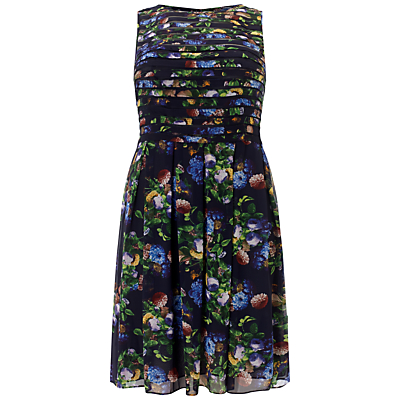 Adrianna Papell Plus Size Printed Dress, Navy/Multi