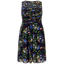 Buy Adrianna Papell Plus Size Printed Dress, Navy/Multi Online at johnlewis.com
