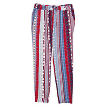 Buy Mango Printed Baggy Trousers, Red Online at johnlewis.com