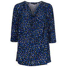 Buy French Connection Anna Animal Top, Blue Multi Online at johnlewis.com