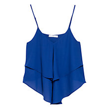 Buy Mango V Neck Double Layer Top, Cobalt Online at johnlewis.com