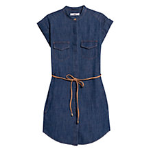 Buy Mango Denim Belt Dress, Open Blue Online at johnlewis.com