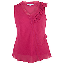 Buy Chesca Linen-Blend Frill Top Online at johnlewis.com