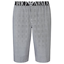 Buy Emporio Armani Woven Cotton Shorts, Grey Online at johnlewis.com