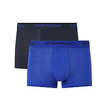 Buy Emporio Armani Stretch Cotton Trunks, Pack of 2 Online at johnlewis.com