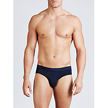Buy Emporio Armani Briefs, Pack of 2, Navy/Blue Online at johnlewis.com