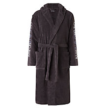 Buy Emporio Armani Logo Sleeve Robe, Grey Online at johnlewis.com