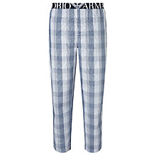 Buy Emporio Armani Woven Check Pyjama Bottoms, Blue Online at johnlewis.com