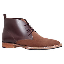 Buy KG by Kurt Geiger Wallasey Leather Suede Chukka Boots, Brown Online at johnlewis.com