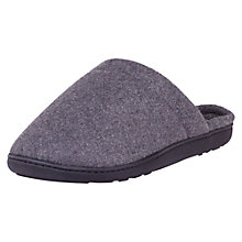 Buy Totes Woven Check Lined Mule Slippers, Grey Online at johnlewis.com