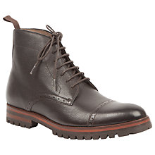 Buy Oliver Sweeney London Maudslay Lace Up Leather Boots, Brown Online at johnlewis.com