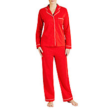 Buy John Lewis Christmas Spot Jersey Pyjama Set, Red Online at johnlewis.com