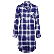 Buy John Lewis Ribbon Check Nightshirt, Blue Online at johnlewis.com