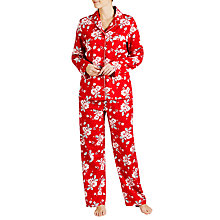 Buy John Lewis Christmas Rose Pyjama Set, Red Online at johnlewis.com