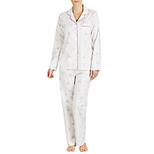 Buy John Lewis Skiing Bears Pyjama Set, Ivory Online at johnlewis.com