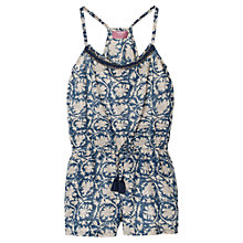Buy Mango Kids Girls' Beaded Playsuit, Medium Blue Online at johnlewis.com