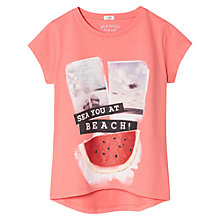Buy Mango Kids Girls' Fruit T-Shirt, Coral Red Online at johnlewis.com