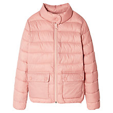 Buy Mango Kids Girls' Water Repellent Quilted Jacket Online at johnlewis.com