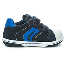 Buy Geox B Flick Leather Trainers, Navy/Blue Online at johnlewis.com