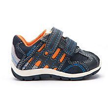 Buy Geox Shaax Rip-Tape Trainers, Navy/Orange Online at johnlewis.com