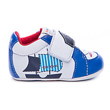 Buy Geox Ian First Boat Print Rip-Tape Trainers Online at johnlewis.com