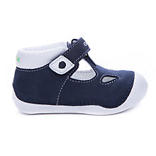 Buy Geox Tutim Leather First Shoes, Navy/White Online at johnlewis.com