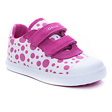Buy Geox Kiwi Spot Rip-Tape Shoes, White/Pink Online at johnlewis.com