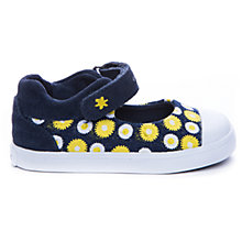 Buy Geox Kiwi Daisy Canvas Shoes, Navy/Yellow Online at johnlewis.com