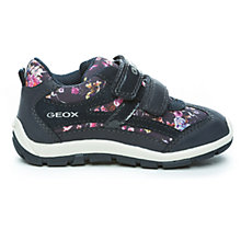 Buy Geox Shaax Floral Rip-Tape Trainers, Navy Online at johnlewis.com