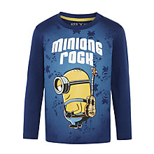 Buy Minions Rock Long Sleeve T-Shirt, Navy Online at johnlewis.com