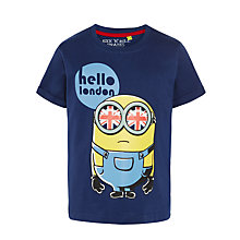 Buy Minions Hello London T-Shirt, Navy Online at johnlewis.com