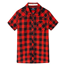 Buy Mango Kids Boys' Check Short Sleeved Shirt Online at johnlewis.com
