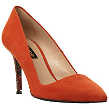 Buy Dune Black Azra Toe Point Stiletto Court Shoes, Burnt Orange Suede Online at johnlewis.com