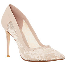 Buy Dune Buffie Lace Court Shoes, Blush Online at johnlewis.com