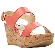 Buy Dune Kendell Leather Cork Wedges Online at johnlewis.com
