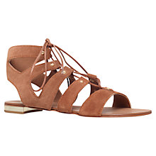 Buy Carvela Kim Lace Up Gladiator Sandals, Rust Suede Online at johnlewis.com