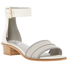 Buy Dune Jools Leather Block Heel Ankle Strap Sandals Online at johnlewis.com