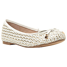 Buy Dune Hobbi Leather Woven Ballerina Pumps Online at johnlewis.com