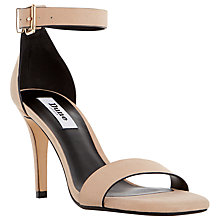 Buy Dune Mara Suede Square Toe High Heel Sandals, Nude Online at johnlewis.com