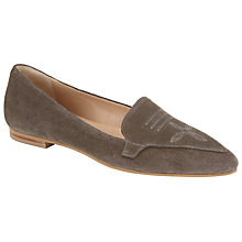 Buy Collection WEEKEND by John Lewis Gourdon Suede Pointed Loafers, Grey Online at johnlewis.com