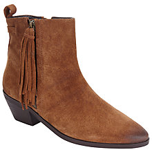 Buy Collection WEEKEND by John Lewis Peronne Tasselled Ankle Boots, Tan Online at johnlewis.com