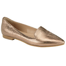Buy Collection WEEKEND by John Lewis Gap Nubuck Pointed Pumps, Gold Online at johnlewis.com