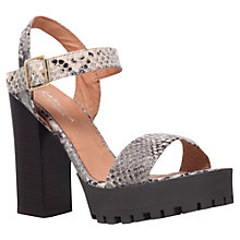 Buy Carvela Gallop Block Heeled Sandals, Taupe Leather Online at johnlewis.com