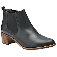 Buy John Lewis Penelope Leather Chelsea Boots, Black Online at johnlewis.com
