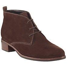 Buy John Lewis Paloma Nubuck Lace Up Ankle Boots, Tan Online at johnlewis.com